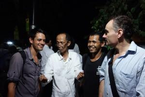 TRILOGI JAWA Indonesia Tour at Festival Lima Gunung 2014, Studio Mendut, Magelang, 27-10-2014, Ascan Breuer, Pak Tanto, Bokir Bustanul Arifin, Victor Jaschke