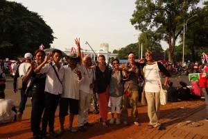 TRILOGI JAWA: Indonesia-Tour 2014, inauguration of Joko Widodo, at the presidential palace, Jakarta, 20-10-2014