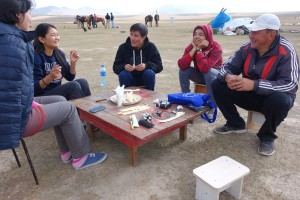 "JAKARTA DISORDER-Tour: ""Bir Duino Kyrgyzstan 2014"", tour team, breakfast with the chief of the hosting nomads on the high plans"