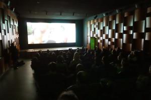 Während im Saal dubiose Dokumentarfilme laufen...